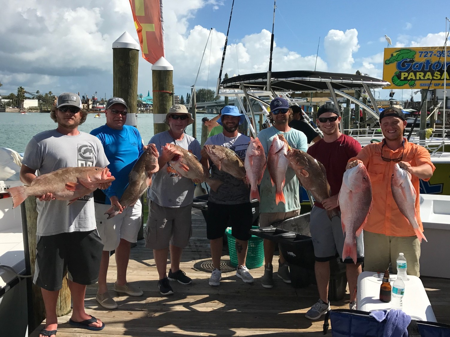 Johns pass florida red snapper fishing charters salty for Johns pass fishing